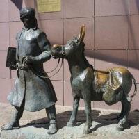 Фото - Памятник Ходже Насреддину на Улице Фестивальной (Москва)